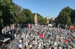 """فيديو..أول صلاة جمعة في """"آيا صوفيا"""" بعد تحويلها إلى مسجد"""