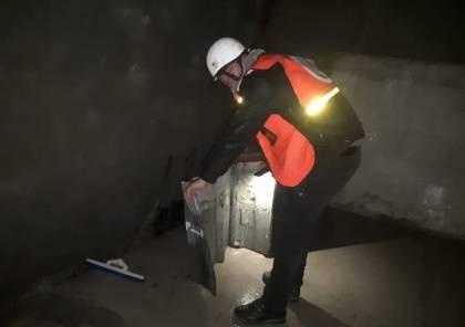 انهيار سقف غرفة بمنزل في منطقة الشمعة في حي الزيتون بغزة