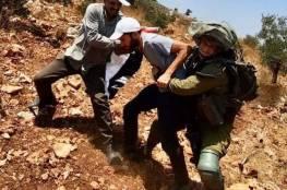 إصابات واعتقال مُتضامن خلال قمع الاحتلال فعالية ضد الاستيطان غرب سلفيت