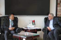غنيم يبحث مع مدير مكتب الأمم المتحدة واقع قطاع المياه في فلسطين