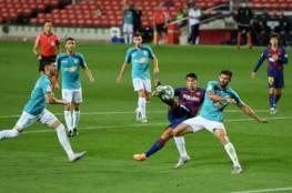 فيديو.. برشلونة يتعثر في ليلة تتويج ريال مدريد بالليجا