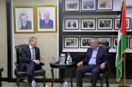 """""""الشيخ يلتقي المبعوث الاوروبي لعملية السلام في الشرق الاوسط """""""