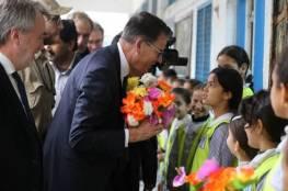 وزير التعاون الألماني يزور مدرسة تابعة للأونروا في غزة