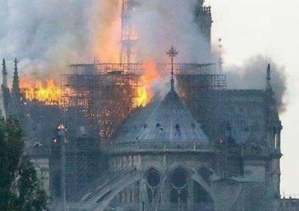 بالفيديو والصور.. حريق هائل في كاتدرائية نوتردام التاريخية في فرنسا