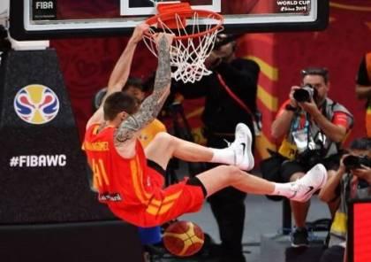 إسبانيا تكتسح الأرجنتين وتتوج بلقب كأس العالم لكرة السلة