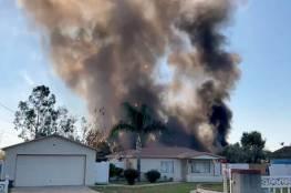 شاهد.. انفجار قوي في كاليفورنيا