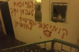 إرهابيون يهود يضرمون النار بمسجد في بيت صفافا بالقدس المحتلة