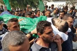 تشييع حاشد لشهداء المجزرة الاسرائيلية في قطاع غزة