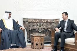بن زايد للأسد: سوريا الشقيقة لن تبقى وحدها في هذه الظروف الحرجة