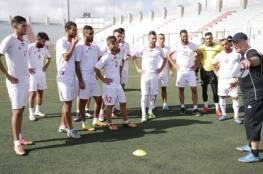 منتخب فلسطين يواصل تدريباته استعدادا لمواجهة المالديف
