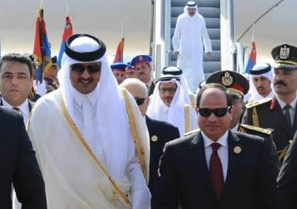 """السيسي يدعو أمير قطر لزيارة مصر """"في أقرب فرصة"""""""