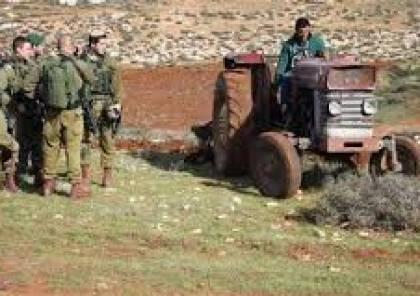 الاحتلال يستولي على 5 جرارات زراعية في الأغوار الشمالية