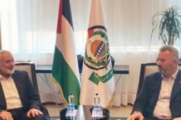 هنية يستقبل رئيس لجنة فلسطين في البرلمان التركي