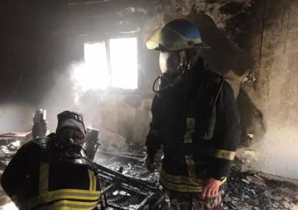 جنين: إصابة مواطنة باختناق إثر حريق منزلها