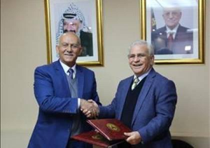 """""""القدس المفتوحة"""" و""""فلسطين لأبحاث الأمن"""" يوقعان اتفاقية تعاون"""
