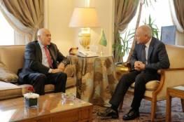 الرجوب يطلع الأمين العام للجامعة العربية على آخر المستجدات السياسية الفلسطينية