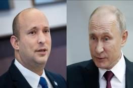 تفاصيل اتصال هاتفي بين رئيس وزراء اسرائيل والرئيس الروسي