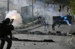 مواجهات مع الاحتلال على المدخل الشرقي لقرية المغير شرق رام الله