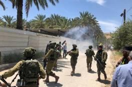 إصابة شاب بالرصاص خلال قمع الاحتلال مسيرة رافضة لخطة الضم الإسرائيلية شرق طوباس