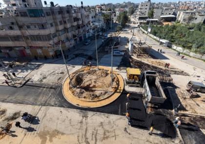بلدية غزة تنجز الأعمال الرئيسة لمشروع تطوير دوار دولة