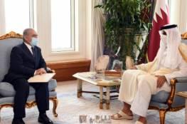 اشتية يبحث مع أمير قطر التطورات السياسية والأوضاع في القدس وإعادة اعمار قطاع غزة