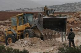 الاحتلال يوقف العمل في مشروع استصلاح اراض شرق رام الله