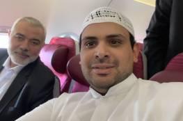 إعلامي كويتي يروي قصة لقائه هنية في الطائرة المتجه نحو مسقط.. اليك تفاصيلها