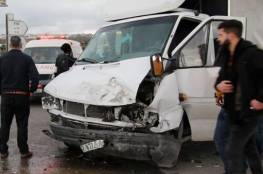 5 إصابات في حوادث سير منفصلة بنابلس وقلقيلية وغزة
