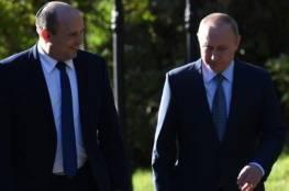 وزير إسرائيلي ينام خلال اجتماع بينيت مع بوتين