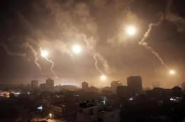 صور.. طائرات الاحتلال تفصف اهدافا للمقاومة في قطاع غزة فجرا دون اصابات