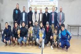 داود يفوز ببطولة فلسطين لكرة الطاولة ونصر الله وصيفاً