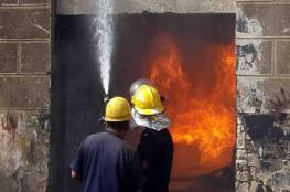 مصرع 4 عمال بحريق مخبز في مصر