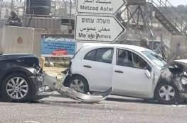 إصابة 3 مواطنين ومستوطن بحادث سير شرق بيت لحم