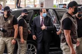 صورة: الوفد الامني المصري برئاسة اللواء كامل يغادر قطاع غزة..