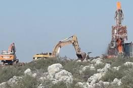 الاحتلال يجرف أراضي غرب سلفيت