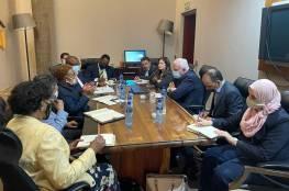 المالكي يبحث مع حزب المؤتمر الوطني الافريقي مواجهة انضمام الاحتلال للاتحاد الافريقي