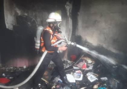 السيطرة على حريق شب بمنزل في رفح