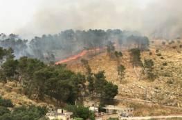 حريق كبير قرب مستوطنة بيت ايل