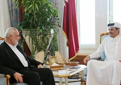 الكشف عن تفاصيل لقاء امير قطر ورئيس المكتب السياسي لحماس بالدوحة
