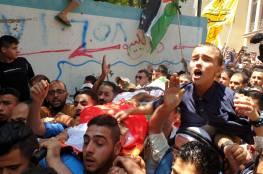 تشييع جثمان الشهيد المسعف الجديلي بغزة