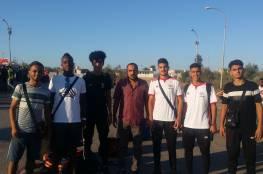 7 لاعبين يغادرون قطاع غزة