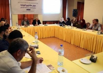 """سرحان يستعرض مشاريع وزارة """"الأشغال"""" وتطورات العمل بغزة"""