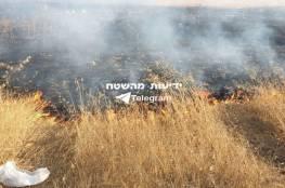 """اندلاع حريق في """"أشكول"""" يشتبه أنه بفعل بالون حارق أطلق من غزة"""