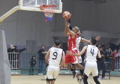 البريج يتفوق على المغازي ويقترب من لقب دوري السلة