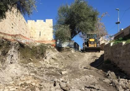 مفتي القدس: هدم درج مدخل المقبرة اليوسفية مشهد عدواني يمس بقدسيتها