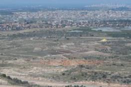 الاحتلال يقرر مصادرة 300 دونم في منطقة عرب المليحات