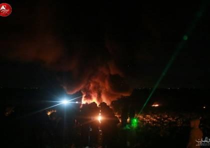 """صو ر: """"الإرباك الليلي"""" يعود على حدود غزة و مواجهات عنيفة مع الاحتلال"""