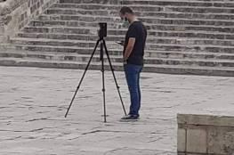 في حادثة خطيرة .. صور : طواقم سلطات الاحتلال تقوم بأخذ قياسات ساحات الأقصى