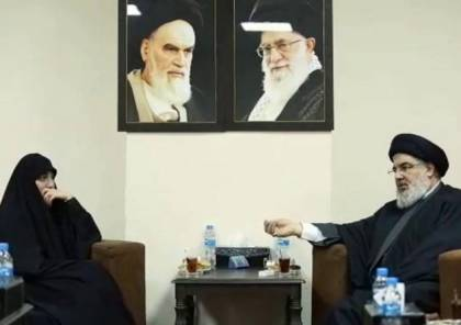 شاهد الفيديو : نصر الله يلتقي ابنة قاسم سليماني