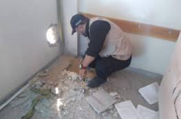 أضرار في مدرسة تابعة للأونروا بغزة بعد سقوط صاروخ إسرائيلي فيها